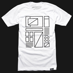 Wireframe tee by Ugmonk. Made and printed in the USA.