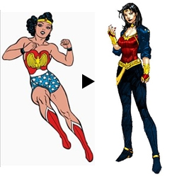 After 69 years Wonder Woman, published by DC Comics, will don a new — and less revealing — costume and enjoy the publication of Issue No. 600 of her monthly series.