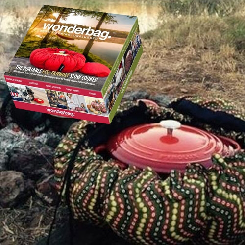 Wonderbag - a super low tech slow cooker. Simply bring your pot to a boil, pop it into the bag, pull the drawstring and give it a few hours. A great insulator, it also works as a cooler. Perfect for camping, boating, home use and more.
