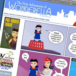 Wonderella! Here's a great one on surfing and how only boy super heroes can cry... Yay for webcomics!