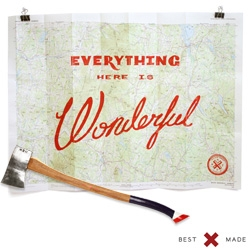 Everything Here Is Wonderful ~ beautiful woodblock prints on topographic maps from the United States Geological Survey by Best Made Co (Yes, the axe guys.)