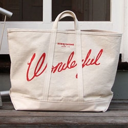 Everything is Wonderful Tote ~ Or Best Made Co's 100lb Coal Bag