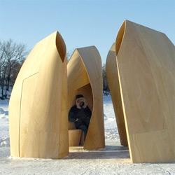 Beautiful ~ from patkau architects: winnipeg skating shelters