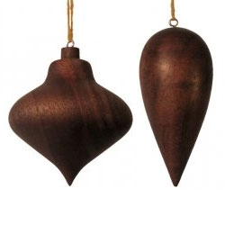 """Bauble"" Walnut Ornament designed Sara Huston and John Paananen, 2012, handmade for Branch by artisans in Portland, OR. 100% sustainable deadfall Oregon Black Walnut, screw eye, cotton cord."