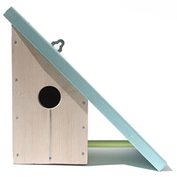 Lotta Cole Design's Home for Wings bird house with side terrace
