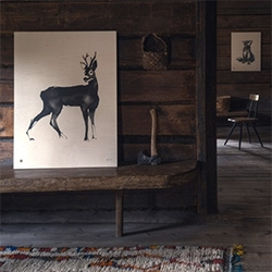 Wood prints by natural illustrator, Teemu Järvi. Love the reed pens + Chinese ink painting style.
