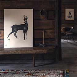 Wood prints by natural illustrator, Teemu Järvi. Love the reed pens + Chinese ink painting style.
