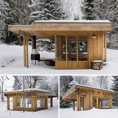 Mountain shack by a1architects. A small hidden gem in Czech Republic