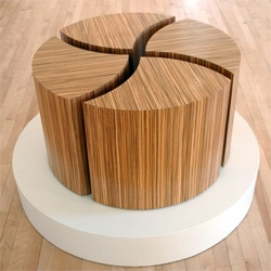 E Pluribus Unum - from At Wood Wood Working ~ beautiful modular tables that can be arranged so many ways!