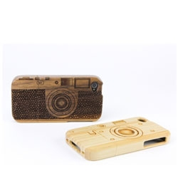 Wood camera iphone 4 case from PhotoJojo.
