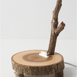 If you want to mix rustic flair with Pink Floyd, then check out the Audiowood iPod dock. Rest your mp3 player on this woodsy knoll.