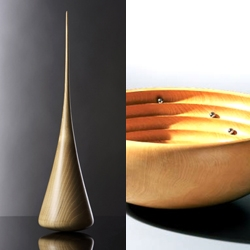 Siegfried Schreiber's wooden kinetic objects, sensual sculptures and meditation objects. High quality German wood turnings.