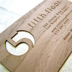 Core77 take a look at wooden business cards.