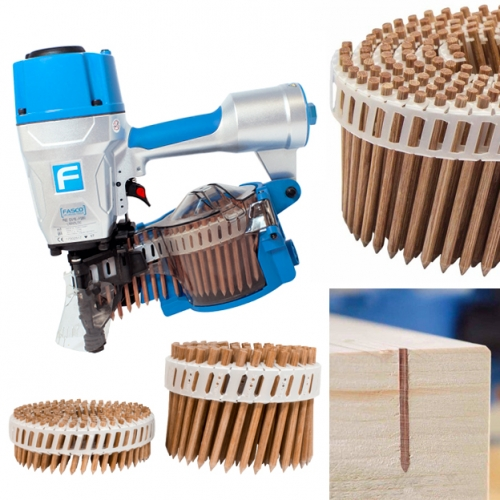 "LIGNOLOC wooden nails - can be shot from a unique nail gun and sanded down easily! ""Heat generated by friction when the nail is driven in cause the lignin of the wooden nail to weld with the surrounding wood to form a substance-to-substance bond."""
