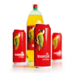 Smith & Milton created these beautiful cans for Woodpecker Cider.