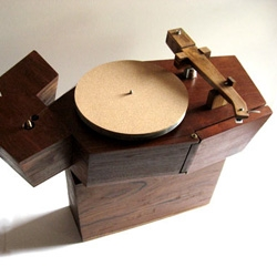 Awesome! Turntable hand built from wood, work of a bangkok artist.