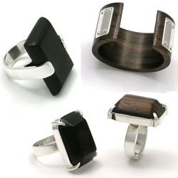 Cool woody jewelry - rings, bangles, chokers, earrings...