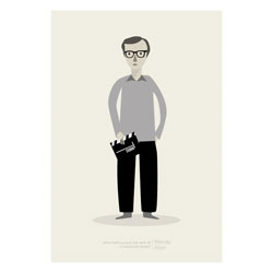 What if nothing exists and we're all in someone else's dream? - Woody Allen. Cute print by Judy Kaufmann.