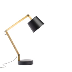 Rebecca Snelling - Workroom Design, New Zealand  has just launched the new 'matt black' or her angle table lamp 2.0. Made from recycled oak and spun metal.