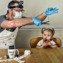 Photographer Dave Engledow created this adorable photo series called 'World's Greatest Father' that features his little daughter Alice in various scenarios.