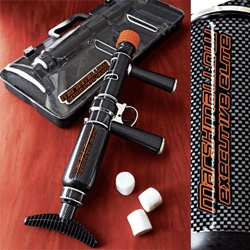 Executive Elite Marshmallow Blaster - wow. just wow. This version of the mallow blaster is a neiman marcus exclusive for all of those execs who need to have some more fun- hilarious faux carbon fiber + briefcase