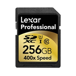 Wow. SD cards are up to 256 GIGS! Lexar Announces Industry's First 256GB SDXC UHS-I Memory Card...