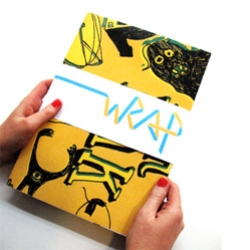 New quarterly graphic design and illustration magazine Wrap, is a collection of original wrapping papers, design related interviews and articles; the aim is to showcase talented artists/designers.