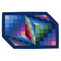 Colorful  Post War + Contemporary art auction of works like Victor Vasarely's 'Gestalt-Sin'  available through Wright20.