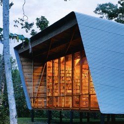 A beautiful retreat in Costa Rica for a writer with a massive collection of 16,000 books. I want one!