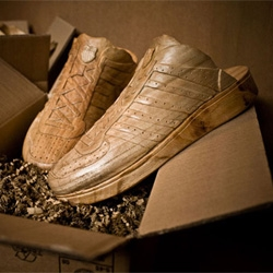Paul Coudamy has designed a series of wooden sneakers for K-Swiss footwear company.