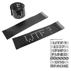 DOT MATRIX leather cuff bracelet - DIY - pop out to spell what you want