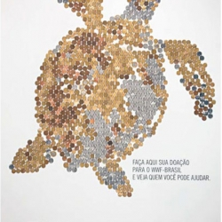 Put coins in posters to form the image of an endangered animal. Campaign created by DM9DDB (Brazil) for WWF-Brazil.