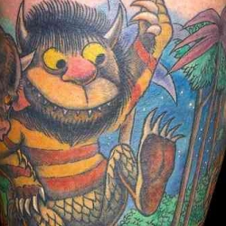 A collection of tattoos inspired by Maurice Sendak and Where The Wild Things Are