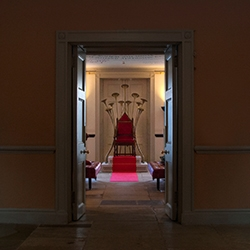 The Throne - an interactive installation piece created as the focal point of Kensington Palace's Christmas 2013 event 'Game of Crowns'.