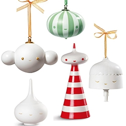 Friends With You for Lladró Holiday Ornament and Tree Topper Collection. The bell even has an adorable little body.