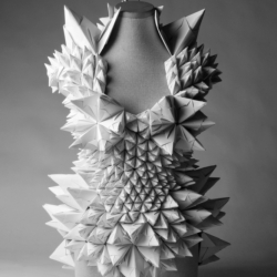 Intriguing design project.  Dresses made from folded paper mix with spacial experience. Tara-Keens Douglas 'Ecstatic Spaces'.