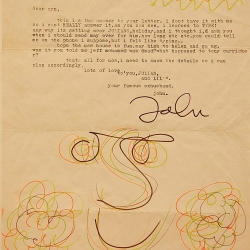 A letter from John Lennon to his estranged wife Cynthia.