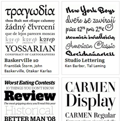 Typographica's fifth annual accounting of the best in new typeface design.