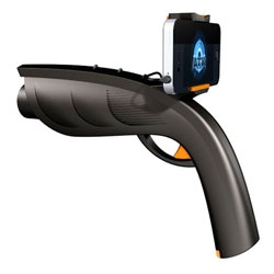 The XAPPR gun, a gaming gun with a clip on attachment for your phone.