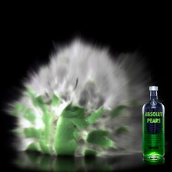 Absolut Temptation - newest flavor... pear. Fun videos of things blowing up slowly...
