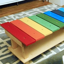 Jellio Music Table! A giant xylophone!