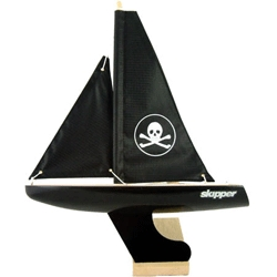 If your kid (or you) is going to have a traditional wooden toy yacht ~ make it black. With a pirate flag sail.