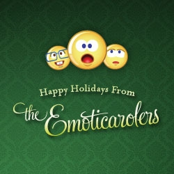 Emoticons + caroling = Emoticarolers. Rewrite the lyrics of classic holiday songs, then send the Emoticarolers off to the digital doorsteps of your friends and family.