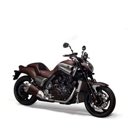 Hermes and Yamaha team up for V-Max concept bike.