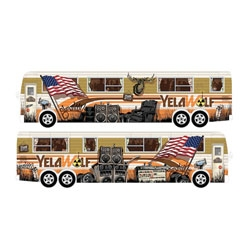 Tristan Eaton's illustrations for rapper Yelawolf's new tour bus, currently on the Warped Tour.