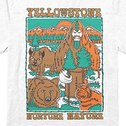 Bigfoot One collab with Parks Project = 3 great shirts supporting Yellowstone, Smoky Mountains, and Yosemite! NURTURE NATURE!