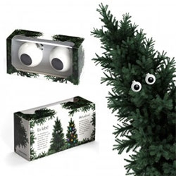 corpus delicti Ball Ornaments Eyes 2-pc set. Googley eyes for your Christmas tree!