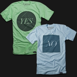 Sometimes you wake up feeling great and you're willing to say 'YES' to just about anything. Other times all you want to do is say 'NO' – leave me alone! Now you can just let your shirts say it for you.