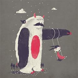 Fuzzy Ink's adorable Swing + Yeti print!