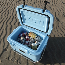 Hard-Core Cooler - Chow shows us Yeti makes coolers that can take a beating.